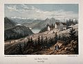 Les Bains Froids; view of mountains and lakes. Wellcome V0014773.jpg