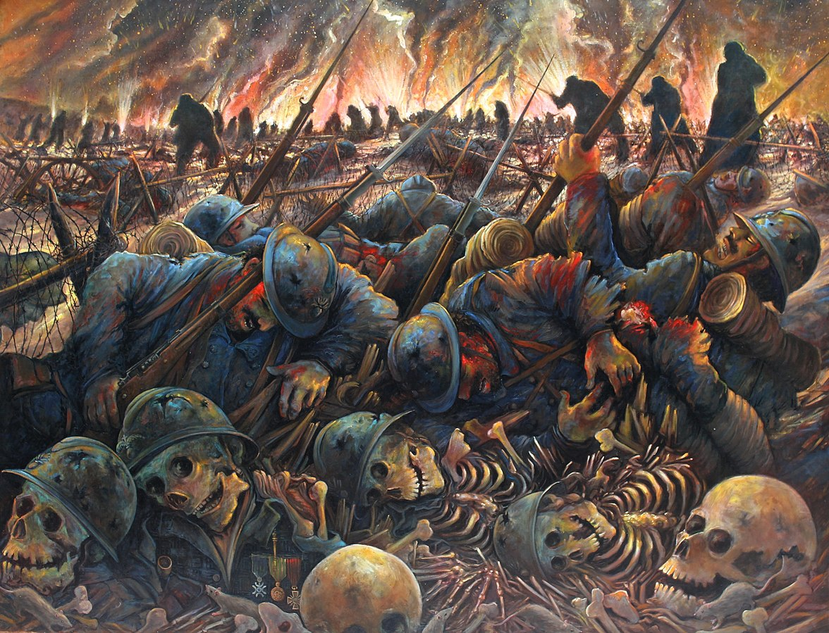 11 novembre:Il y a un  peu plus d'un siècle, des millions de Français dans la force de l'âge sont morts pour la France:«Tout ça pour ça»? dans Non classé 1176px-Les_sacrifi%C3%A9s_de_1914-1918