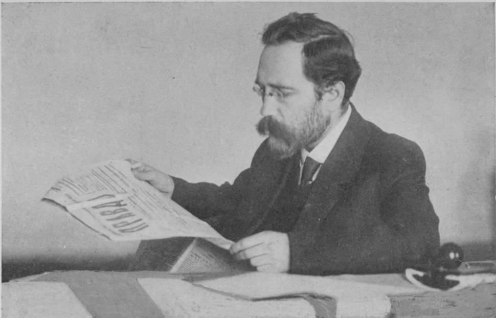 Lev Kamenev reads Pravda