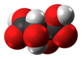 Levo-Tartaric acid molecule spacefill from xtal.png