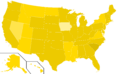 Libertarian Party presidential election results, 1992, ordinal (United States of America).png