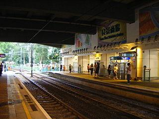 Leung King stop MTR Light Rail stop