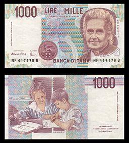 Lire 1000 (Maria Montessori)