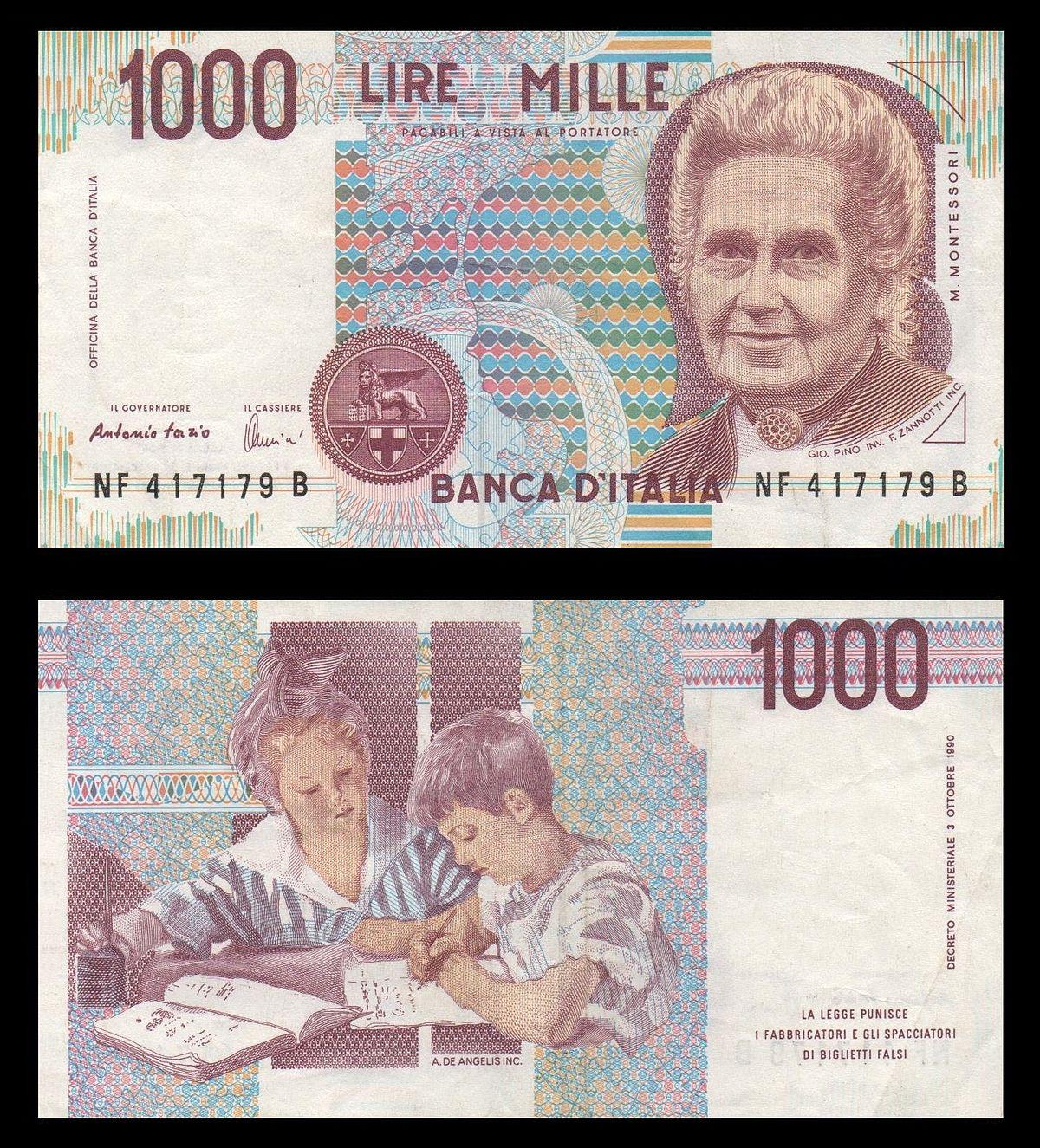 Italian lira - Wikipedia Italian Money