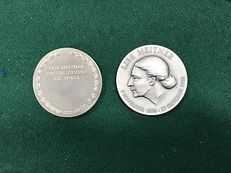Lise Meitner Distinguished Lecture - Lise Meitner Distinguished Lecturer Medal