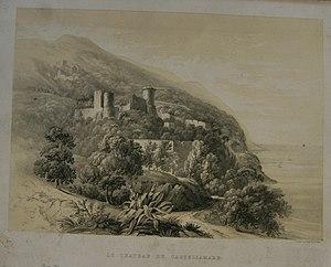 Paul Gauci - Lithograph of chateau de Castellamare, drawn by Paul Gauci.