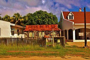 Paradera - A small wooden house in Paradera, Aruba.