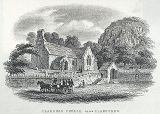 Llanrhos Church, Near Llandudno. (Eglwys Rhos)
