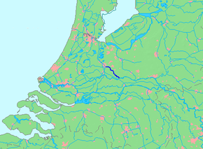 Kart over Kromme Rijn