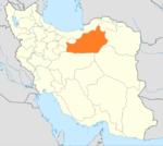موقعیت استان سمنان در ایران.