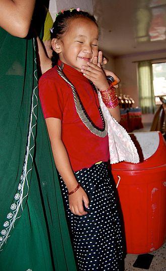Lohorung people - A Lohorung girl at Kathmandu