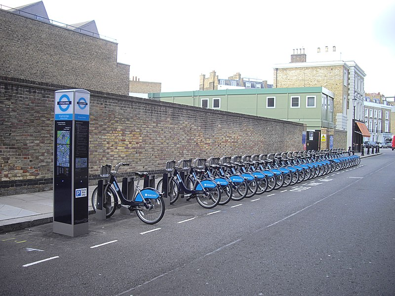 File:London cycle hire docking station, Denyer Street, Chelsea - geograph.org.uk - 2020872.jpg