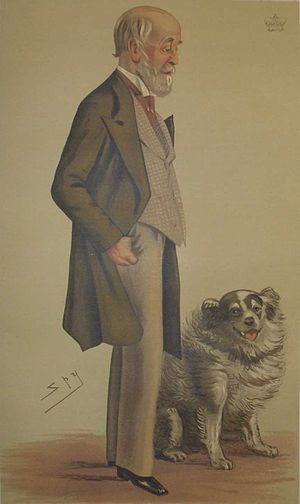 "Alan Gardner, 3rd Baron Gardner - ""Fox hunting""Lord Gardner as caricatured by Spy (Leslie Ward) in Vanity Fair, July 1883"