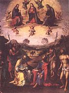 Lorenzo Costa - Crowning of the Madonna and saints