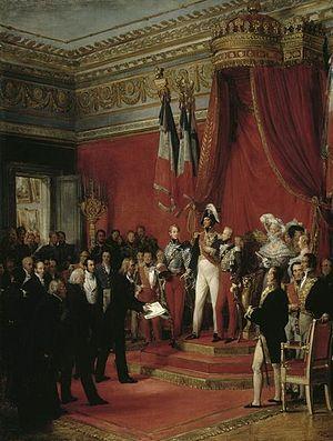 Nicolas Gosse - Le roi Louis-Philippe refuse la couronne offerte par le Congrés belge au duc de Nemours, le 17 février 1831 (King Louis Philippe declining the crown of Belgium offered to the Duke of Nemours on 17 February 1831), Palace of Versailles, 1836