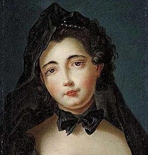 Louis Vigée - Louis Vigée, Portrait of a young widow, oil on canvas, 44 x 34 cm