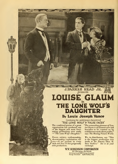 <i>The Lone Wolfs Daughter</i> 1919 silent film directed by William P.S. Earle