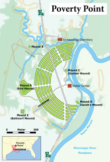 Poverty Point Prehistoric site of the Poverty Point culture in northeastern Louisiana, United States