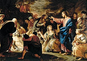 Lazarus Saturday - Image: Luca Giordano Raising of Lazarus WGA9010