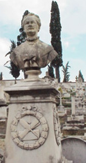 Ludmilla Assing - Ludmilla Assing's grave and bust in Florence, Italy