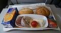 Lufthansa economy class lunch 2010-07.jpg