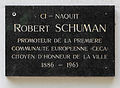 Luxembourg City Robert Schuman birthouse plaque.jpg