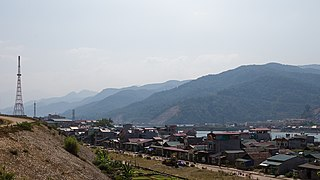Mường Lay Town in Northwest, Vietnam