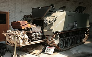 M75 armored personnel carrier - An M75 APC at the Brussels army museum.