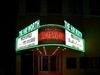 Hayworth Theatre - Image: MACHIAVELLI MARQUE