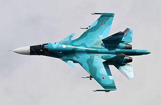 Sukhoi Su-34 Strike fighter version of the Su-27 fighter aircraft