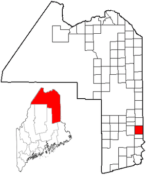 Hodgdon, Maine - Image: ME Map location of Hodgdon