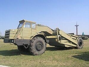 MoAZ - MOAZ-6014 Scraper in Togliatti Technical museum.