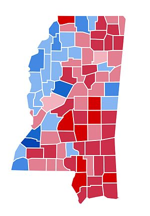 United States presidential election in Mississippi, 2000 - Image: MS2000