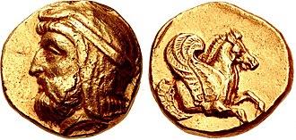 Artabazos II - Coin of Artabazos. Satrap of  Dascylium, Lampsakos, Mysia, circa 356 BC