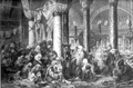 M Tancoigny, Refugees in the Hagia Sophia during the Russo-Turkish War (c1878; scanned from Constantinople (1996)).png