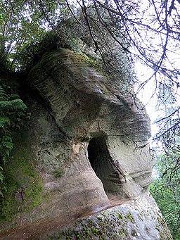 Macartneys Cave, Thrunton Wood (geograph 4636815)