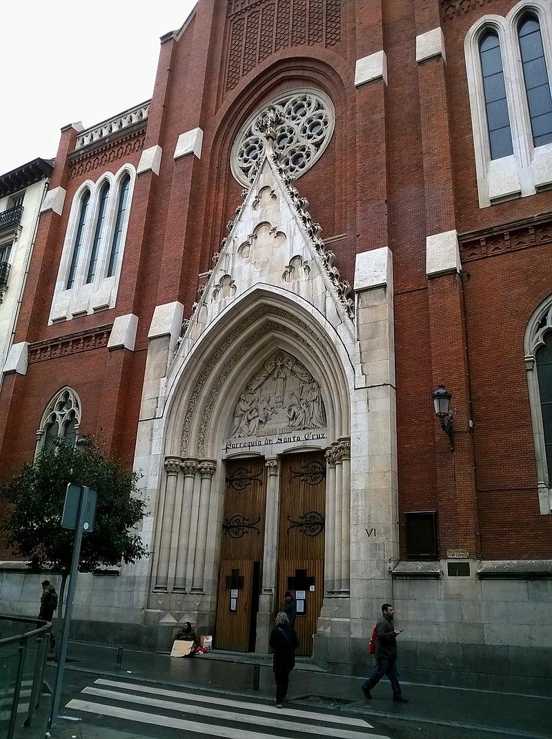 Madrid Calle De Atocha Iglesia Santa Cruz Entree Nord - panoramio.jpg
