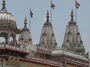 Ratnatraya - The three shikhar (top) of a Jain temple represents Ratnatraya (three jewels)