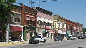 National Register of Historic Places listings in Vermillion County, Indiana - Image: Main Street in downtown Clinton