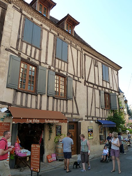 Buildings in Bergerac, Dordogne