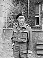 Major General Sir Percy Hobart, 16 June 1942. In March 1943 he was made responsible for the development of specialised armoured vehicles, known as 'funnies', to spearhead the D-Day assault. H20697.jpg
