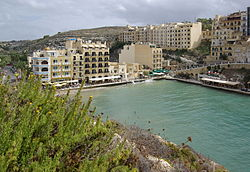 View of Xlendi, a suburb of Munxar