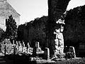 Manastirea cisterciana Carta jocuri de lumini si umbre in curtea interioara.JPG
