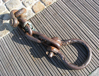 Shackle - A well used shackle.