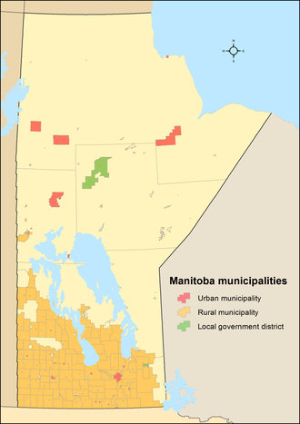 Manitoba municipal amalgamations, 2015 - Before amalgamations: 197 municipalities