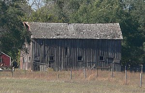 National Register of Historic Places listings in Tripp County, South Dakota - Image: Manthey barn (Tripp Co SD) from E 1