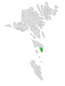 Location of Húsavíkar kommuna in the Faroe Islands