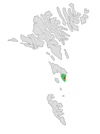 Húsavík, Faroe Islands - Image: Map position husavikar kommuna 2005