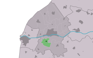 Hitzum - Image: Map NL Frjentsjerteradiel Hitsum
