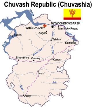 Chuvashia - Map of the Chuvash Republic